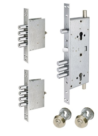 Замок врезной MUL-T-LOCK  415G CR SATIN NICKEL UNIV BS63мм 2 protectors