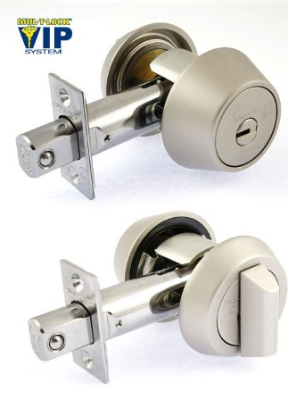 Замок MUL-T-LOCK DEAD BOLT HERCULAR SATIN NICKEL UNIV BS60/70мм INTERACTIVE+ VIP